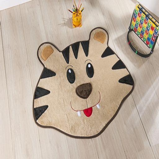 Tapete-Premium-Baby-Tigre-78cm-x-66cm-Bege-Guga-Tapetes-