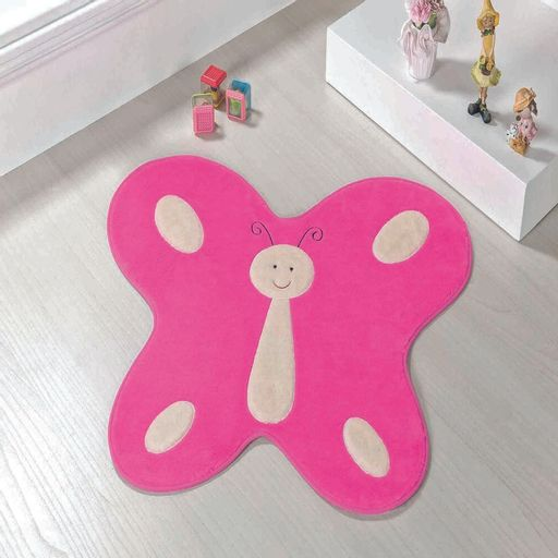 Tapete-Premium-Baby-Borboleta-Feliz-88cm-x-66cm-Pink-Guga-Tapetes-