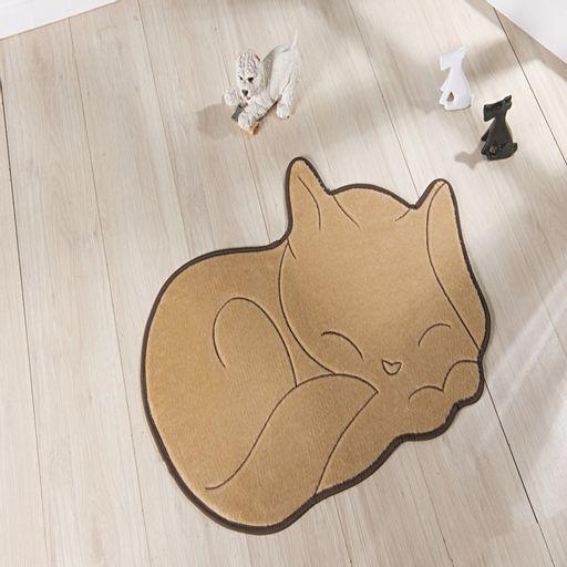 Tapete-Premium-Baby-Gato-Soneca-88cm-x-62cm-Bege-Guga-Tapetes