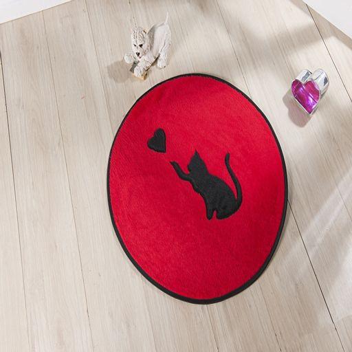 Tapete-Premium-Baby-Gato-Love-65cm-Vermelho-Guga-Tapetes