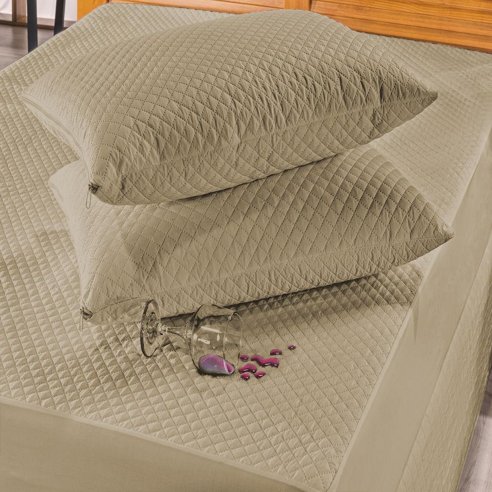 Protetor de Travesseiro Impermeável Caqui Matelado 1 peça Ione Enxovais