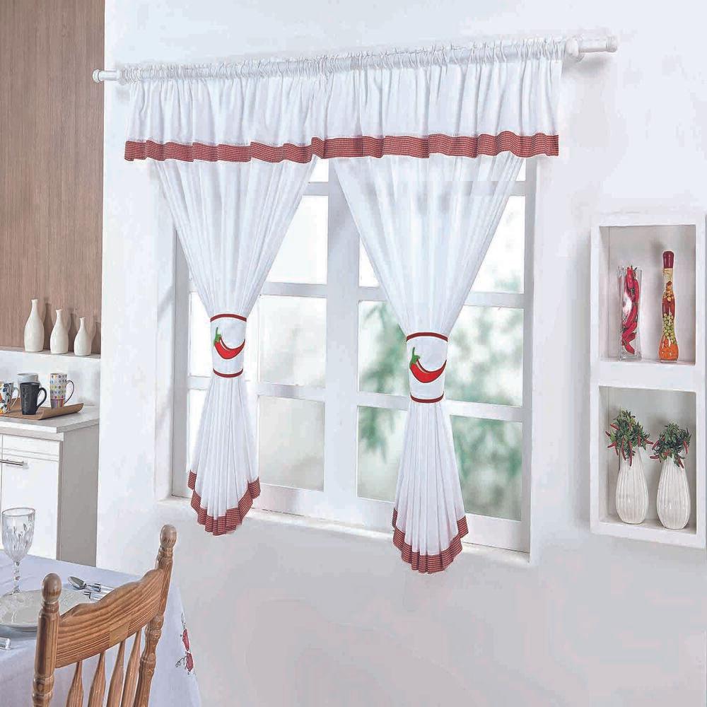 Cortina de Cozinha Pimenta Branca Guga Tapetes