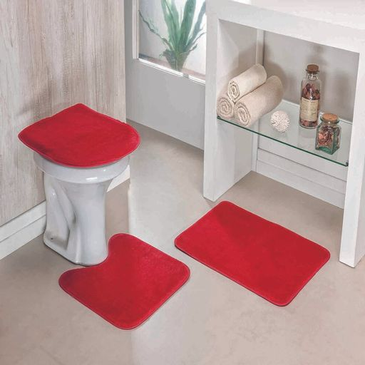 Kit-Tapete-Banheiro-Liso-Vermelho-Guga-Tapetes-3-pecas-