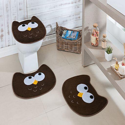 Kit-Tapete-Banheiro-Premium-Coruja-Cafe-Guga-Tapetes-3-pecas