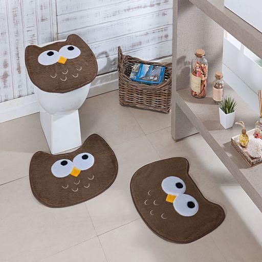 Kit-Tapete-Banheiro-Premium-Coruja-Castor-Guga-Tapetes-3-pecas