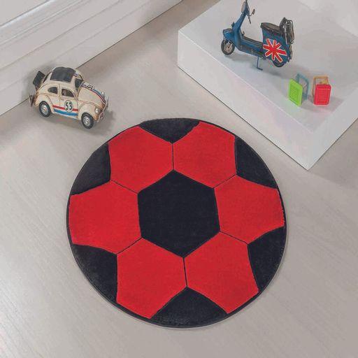 Tapete-Big-Premium-Bola-104m-Vermelho-e-Preto-Guga-Tapetes