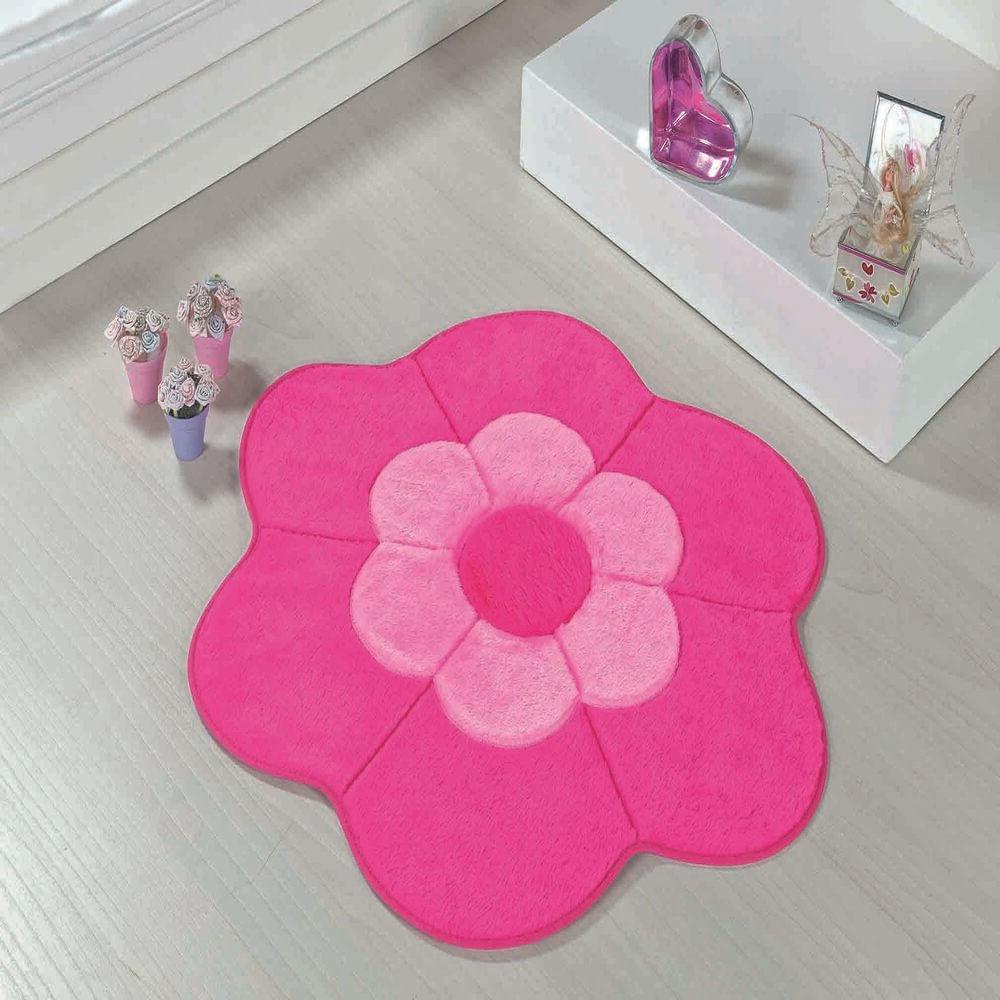 Tapete Big Premium Margarida Dupla 1,12m x 1,12m Pink Guga Tapetes
