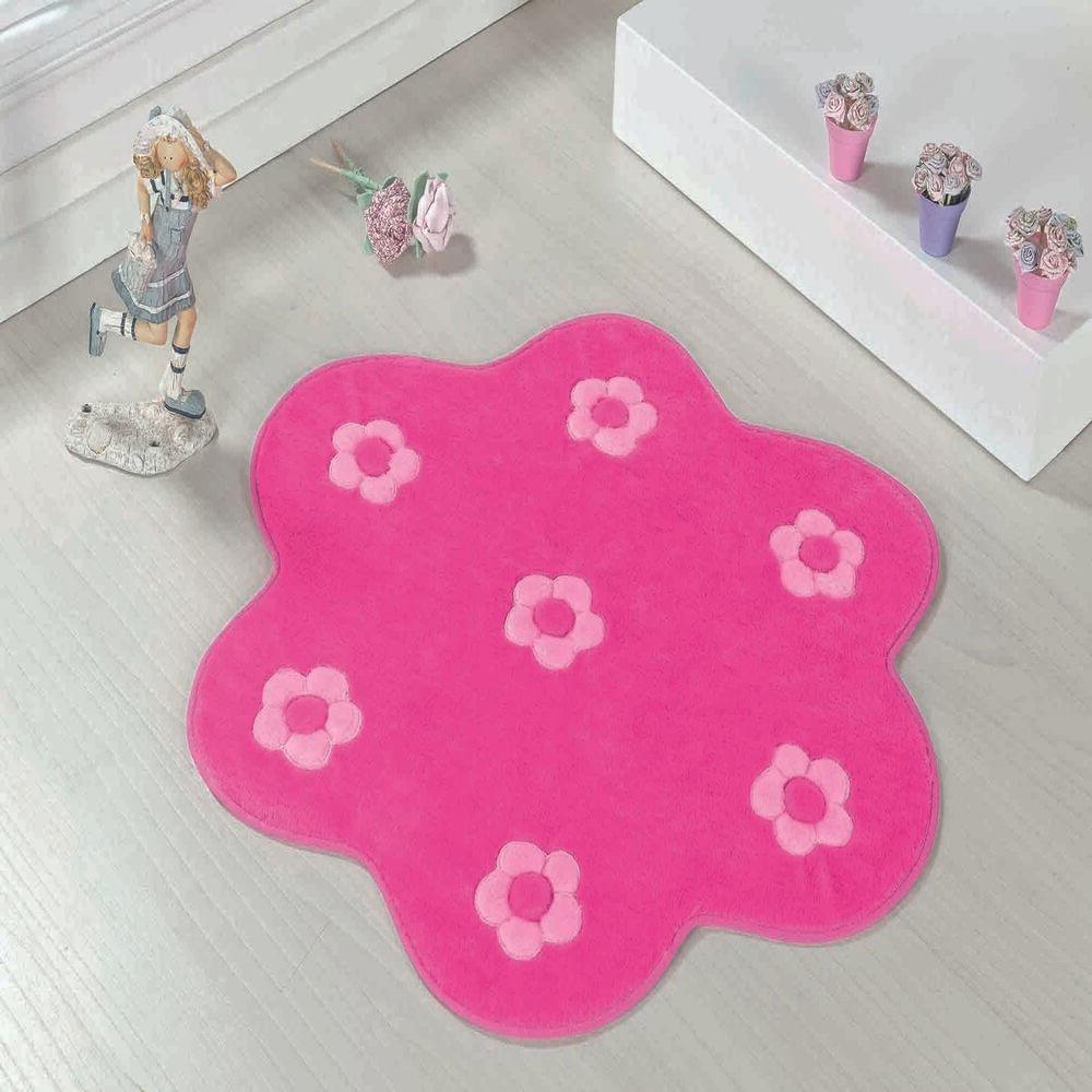 Tapete Big Premium Jardim 1,12m x 1,12m Pink Guga Tapetes